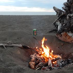 Lagerfeuer in Neuseeland